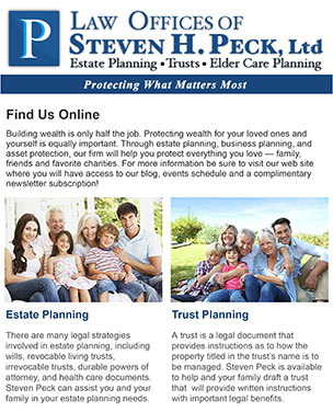 Subscribe to our Estate Planning Newsletter!